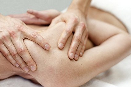 Advanced Massage Techniques performed on a clients shoulder