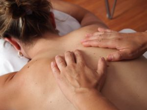 woman during Swedish Massage Training Course